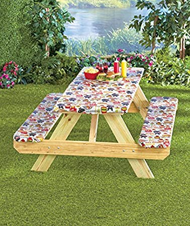 3 Pc. Picnic Table Covers (Summertime Cookout)