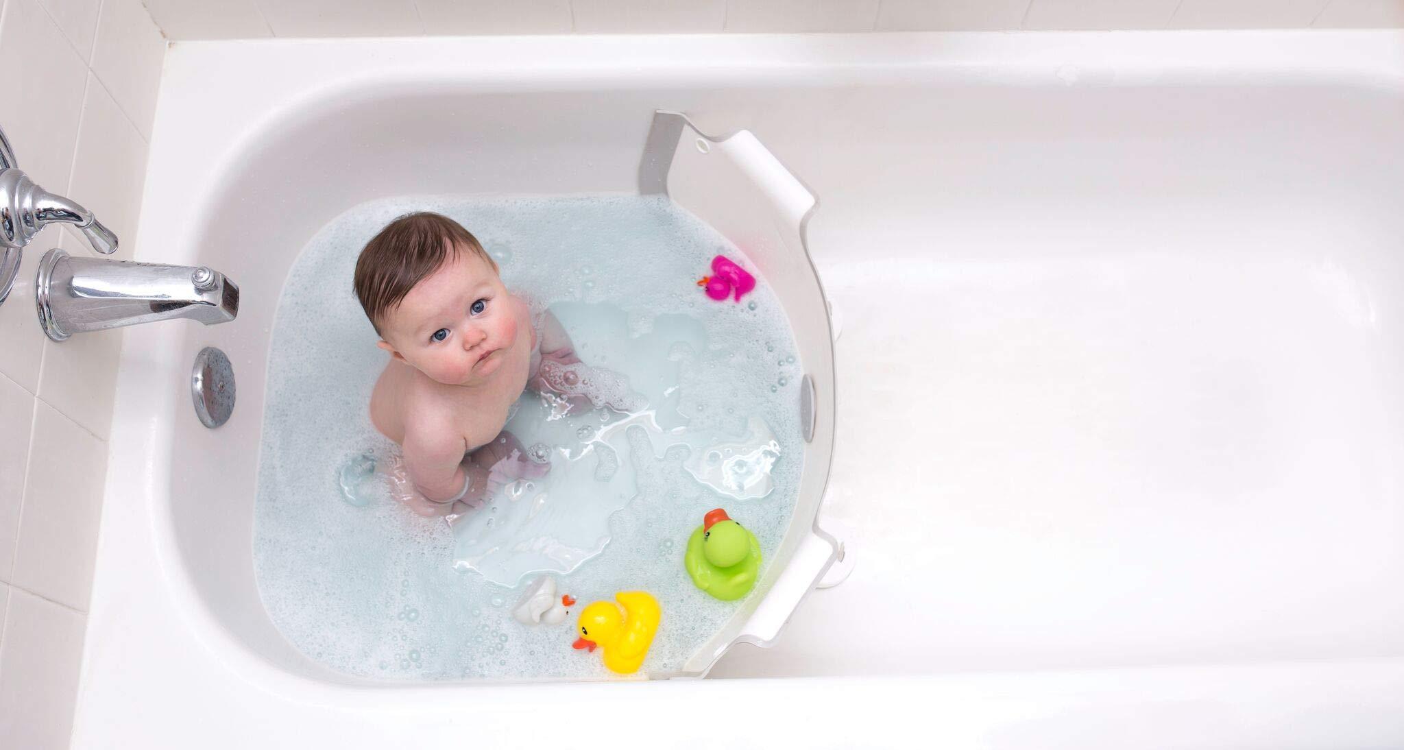 BabyDam Bathwater Barrier, Converts a Standard Non-Textured Bathtub to a Baby Bathtub by Baby Dam (Image #5)