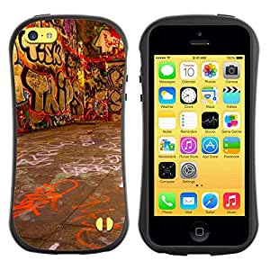 Suave TPU GEL Carcasa Funda Silicona Blando Estuche Caso de protección (para) Apple Iphone 5C / CECELL Phone case / / Grafiti Street Art Wall Neon Drawing Letters /