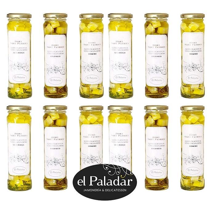 12 Botes de Quesos en Aceite - Queso Elaborado con Leche de Menorca