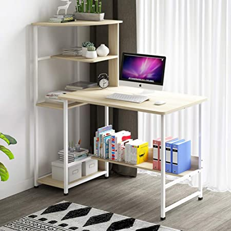 YQ WHJB - Mesa de Ordenador con estantes, Home Office, para ...