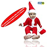 Selling Uniqness UNIq Baby Christmas Party Santa Costume Suit Outfits Set Xmas (1-2 Years)
