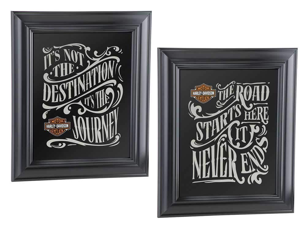 Harley-Davidson Destination Mirror Set – Black, 10.75 x 12.5 inches HDL-15231