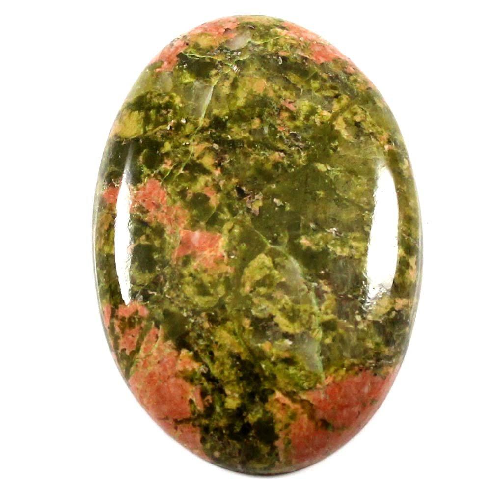 Gems & Jewels 34.75 CTS 100 %天然Exclusive DesignerユナカイトCabochon Oval Loose宝石   B07883ZPYH