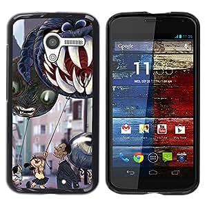 For MOTO X / XT1058 / XT1053 / XT1052 / XT1056 / XT1060 / XT1055 Case , Jaws Teeth Children'S Halloween - Diseño Patrón Teléfono Caso Cubierta Case Bumper Duro Protección Case Cover Funda