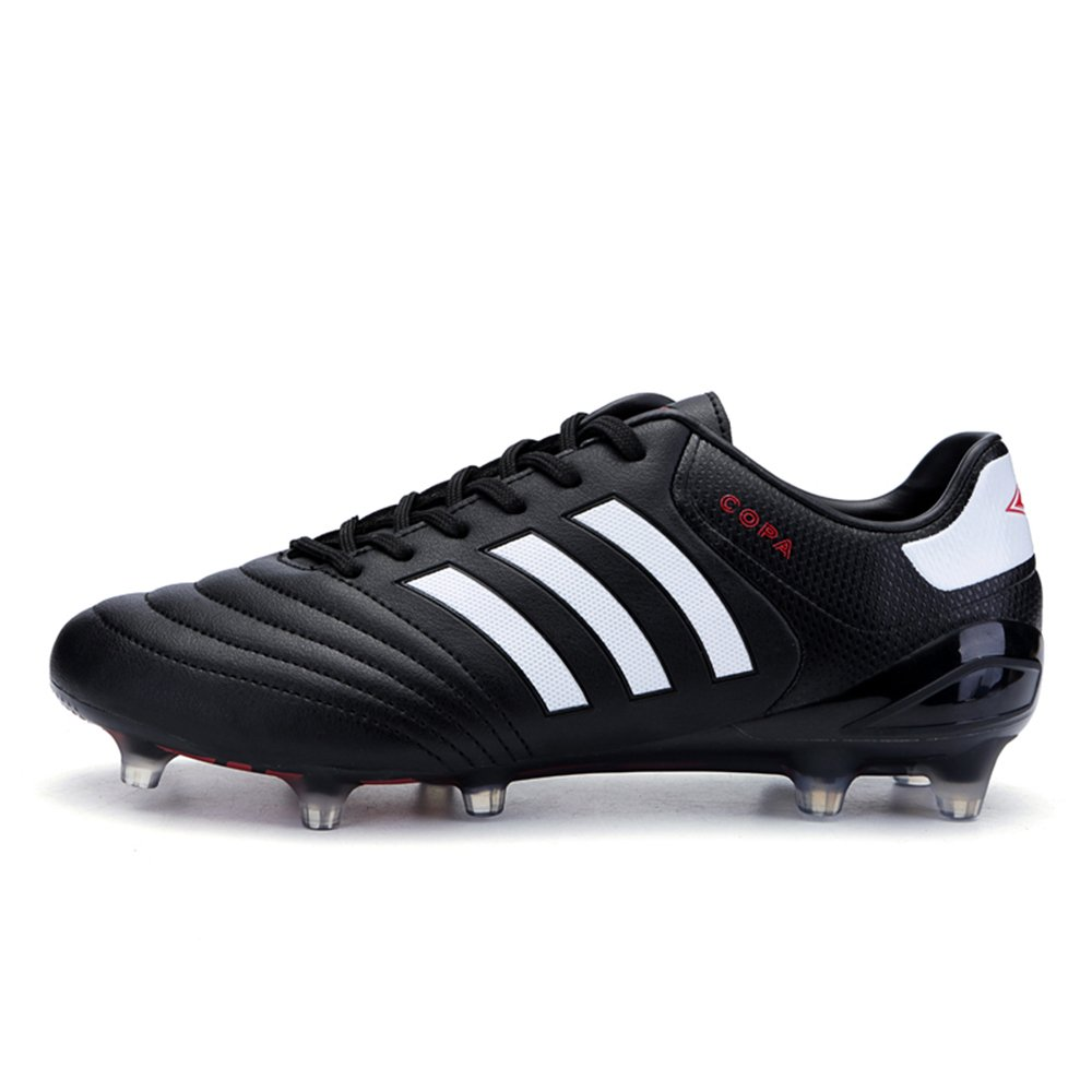 AUJESS FG Soccer Shoes Men Outdoor Copa Soccer Cleats Low Top Football Cleats For Adults B07BP42MKV US 10=EU 44=foot length 27cm|Black