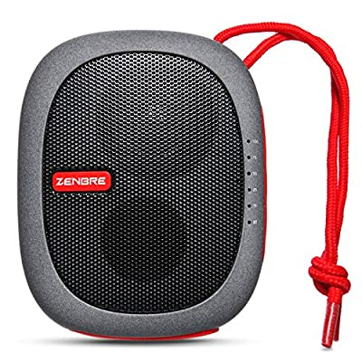Portable Speakers, ZENBRE D3 Wireless Bluetooth Speaker with 15 Hours Play Time, Small Travel Speaker Support Laptop and all Bluetooth Devices (Red)