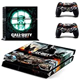 Hibote Vinyl Decal Full Skin Faceplates Sticker Set For Sony PlayStation 4 PS4 Console And 2 Remote Controllers Call of Duty Black Ops 3