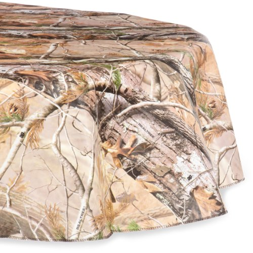 DII Real Tree Peva Tablecloth with Flannel Backing for Indoor/Outdoor Mixed Sizes, 60