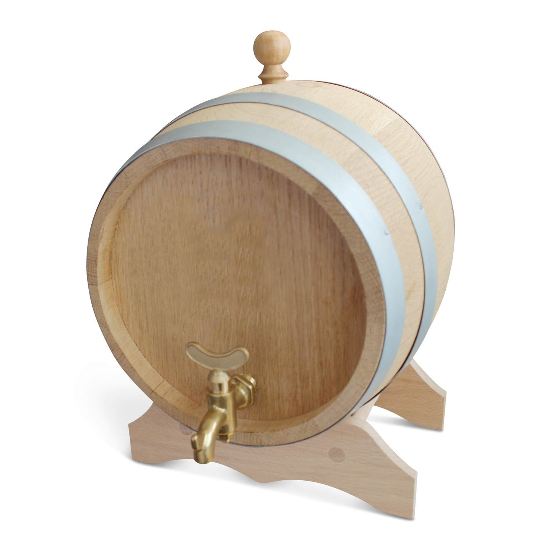 Oak Barrel Party/Beer Barrel Wine Barrel Blank & Brass,–Available in Different Sizes, brown, 1 l Geschenkbox GmbH