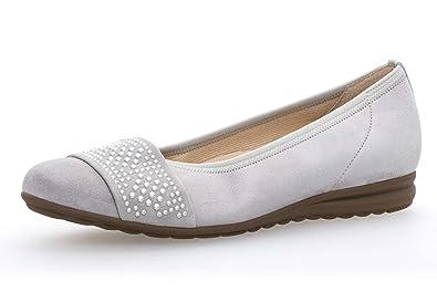 244b50efd2 Gabor Women's Ballet Flats Grey Light Grey(Nieten): Amazon.co.uk ...
