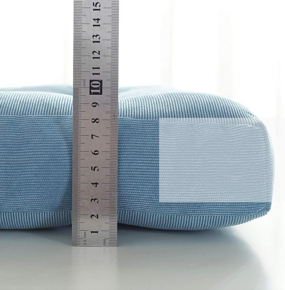 DL/&VE Volltonfarbe Stuhl-Pads Platz Baumwolle Stuhlkissen Weiche Verdicken Sie Sitzpolster Kissen F/ür Office Home Auto Sitzen-blau 30x50x8cm 12x20x3