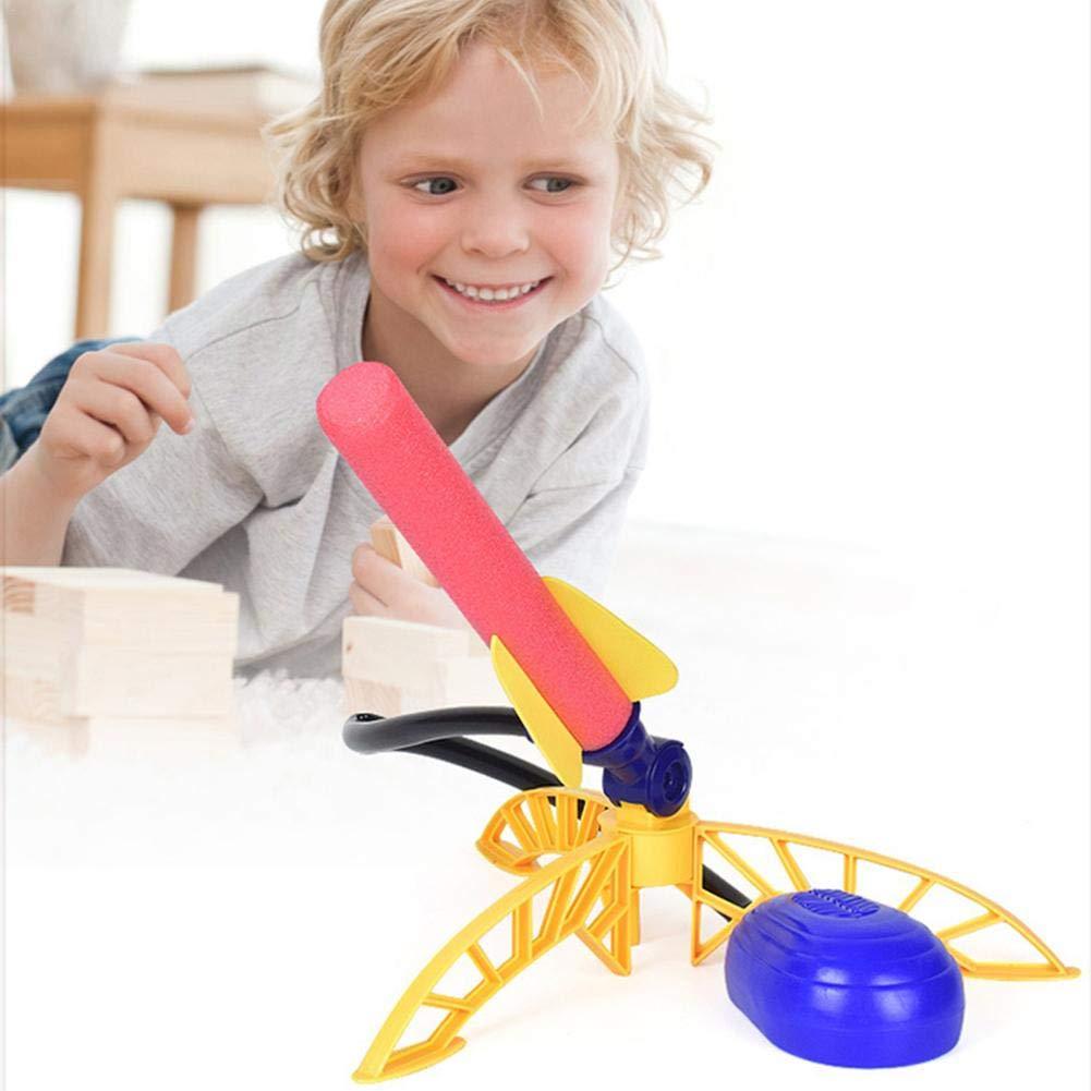 Ciencia Aire Libre Juguete Educativo Juego Para Regalo De Estudiante Stomp Rocket Pl/ástico Pedal Tipo de Presi/ón Cohete con lanzador y 3 cohetes de espuma Chlius Juguete Cohete de Aire