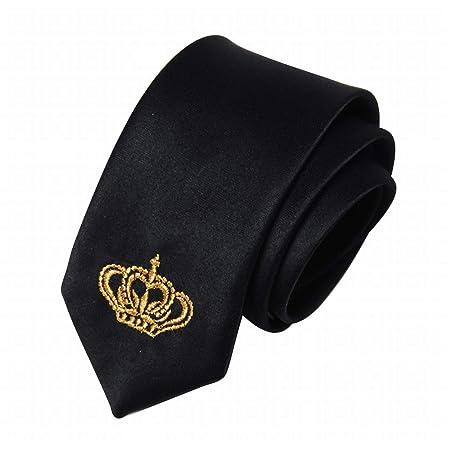 Mkulxina Tendencia de Moda Corbata Masculina patrón de Corona ...