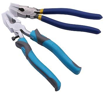 Yeeco Running Juego de alicates con puntas de corte de cristal 2pcs Ataja & antideslizante azul