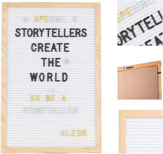 LEDR Letter Board aus Holz und Filz 30 x 30 cm Grau//Natur Buchstaben Tafel Buchstabenbrett Rillentafel Stecktafel mit 354 Wei/ße 354 Golden- und Silberfarbigen Buchstaben /& Zahlen /& St/änder