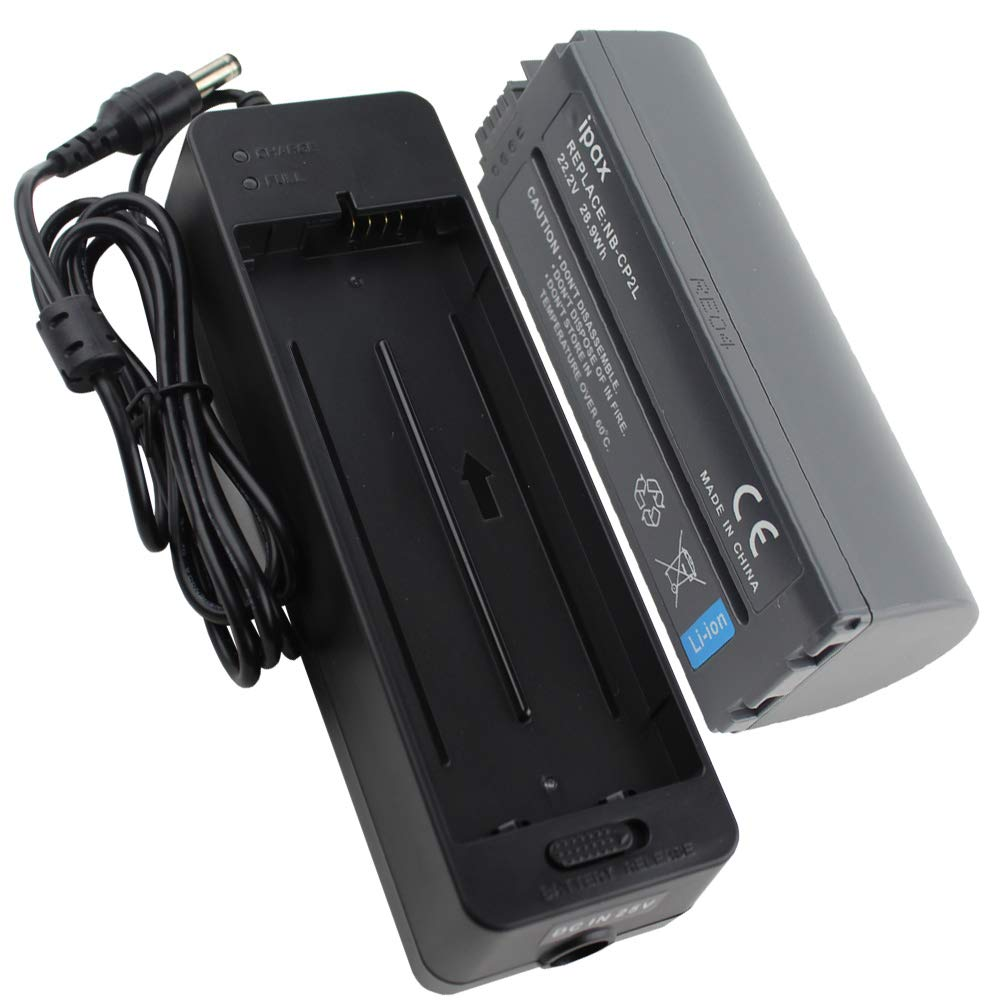 IPAX Battery and Charger Compatible with for Canon Selphy Photo Printers CP1300, CP1200, CP910, CP900, CP800, CP790, CP780, CP770, CP730, CP710, CP600, CP510, Replacement for NB-CP2L NB-CP2LH NB-CP1L by IPAX