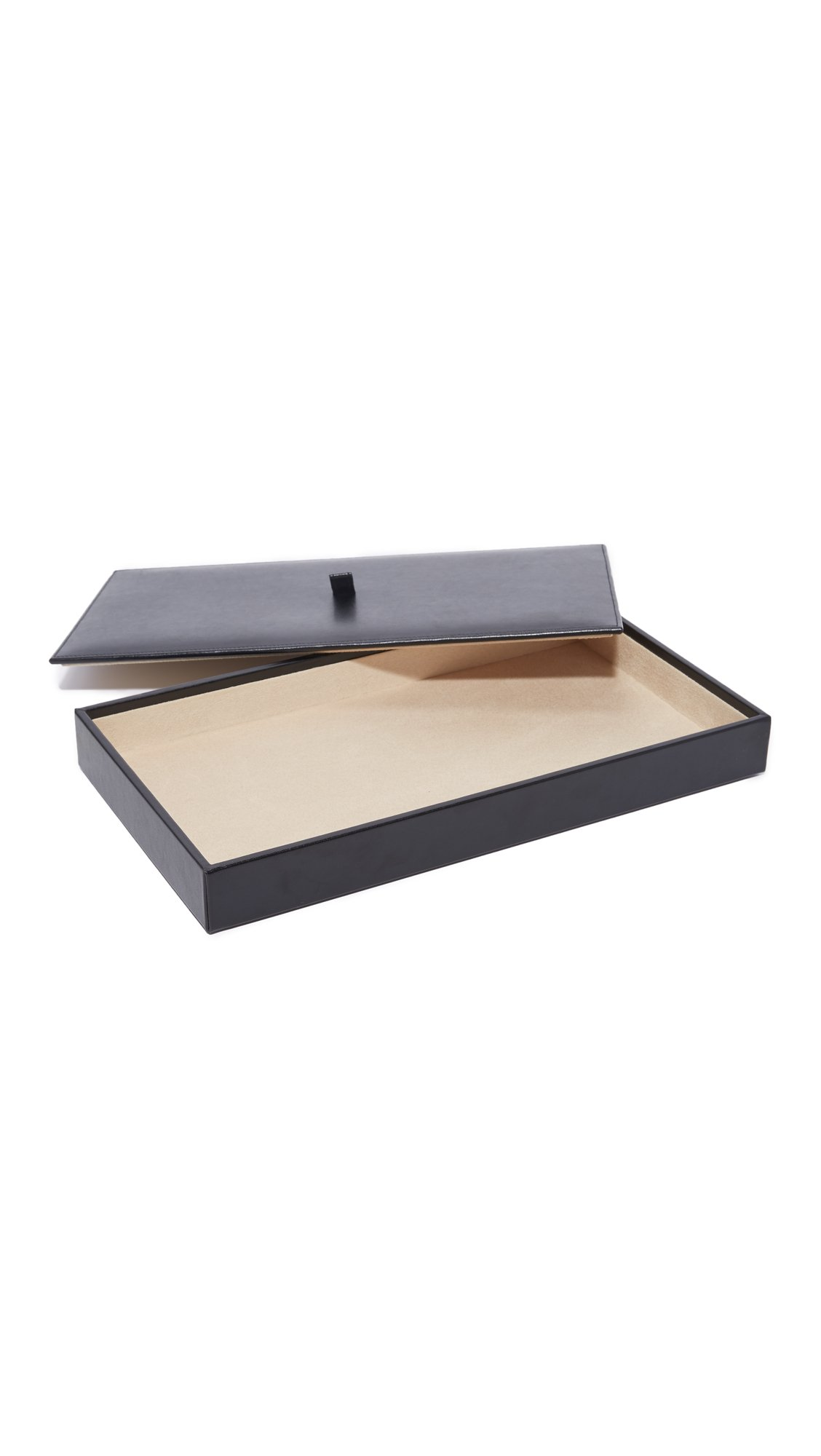 Gift Boutique Women's WOLF Vault Tray Set with Lid, Black, One Size