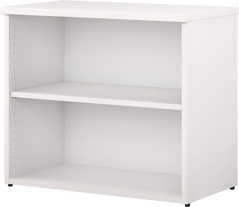 Bush Business Furniture 400 Series 2 Shelf Bookcase in White