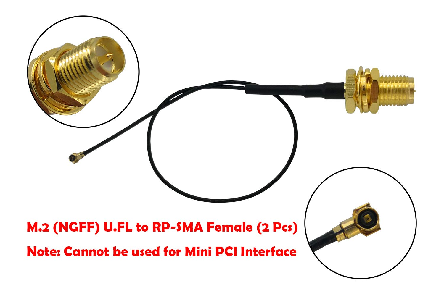20cm U.FL IPEX MHF4 to RP SMA Female Extension Cable for M.2 NGFF Card Notebook PS4 Drone 1 Pcs WiFi Antenna 8dBi Omni RP-SMA Male 2.4Ghz 5.8Ghz Dual Band