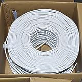 Premiertek 1000Ft Cat6 23AWG UTP Solid 4-Pairs Network Ethernet LAN Cable Bulk White (CAT6-CCA-1KFT-W)