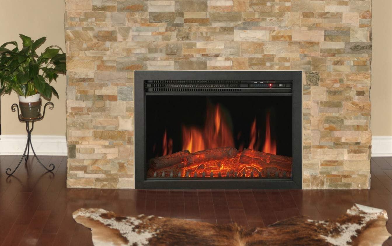 Chemin'Arte 118 Oxford Insert électrique cheminée, 2000 W, Noir, 61 x 25 x 45 cm