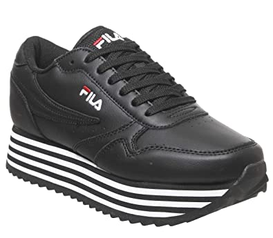 Amazon.com | Fila Orbit Zeppa Stripe Womens Platform ...