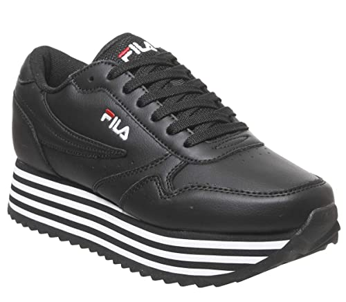 Fila Orbit Zeppa Stripe Damen Sneaker Weiß: Amazon.de: Schuhe ...