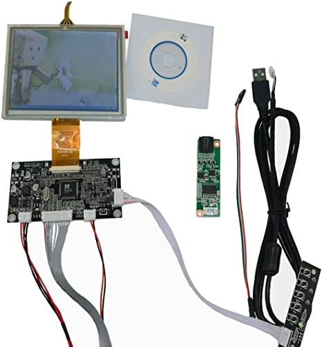 New VGA AV Lcd Controller Driver board work 5inch ZJ050NA 08C 640x480 LCD Screen