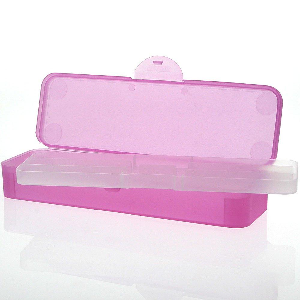 Kosmetex, Aufbewahrungsbox pink Kosmetex, für Feilen und Schminkpinsel, herausnehmbarer Fachboden, Pinselbox, Pink BAEHR Beauty
