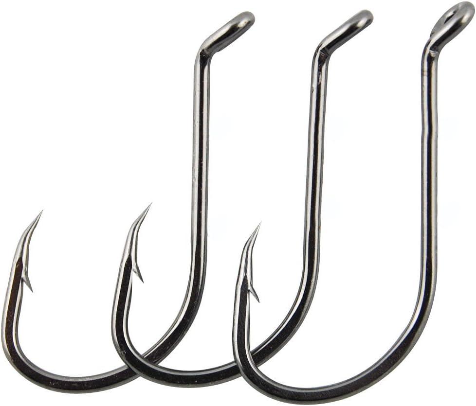 Luengo 50pcs//lot 8299 Jig Fish Hooks Octopus Barb Fishing Hooks Beak Bait Holder Hook with 2 Baitholder Barbs