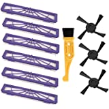 Buti-Life 6-pack High-performance Filter Replacement + 3 Side Brushes for All Neato Botvac Series Models, 70e 75 80 85