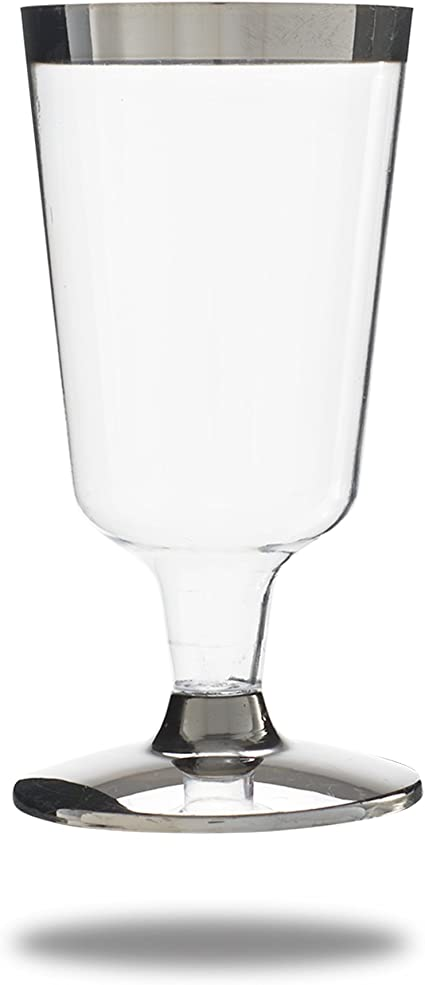 50 X High Quality Disposable Wine Glasses 220 Ml 8oz Amazon Co Uk Kitchen Home