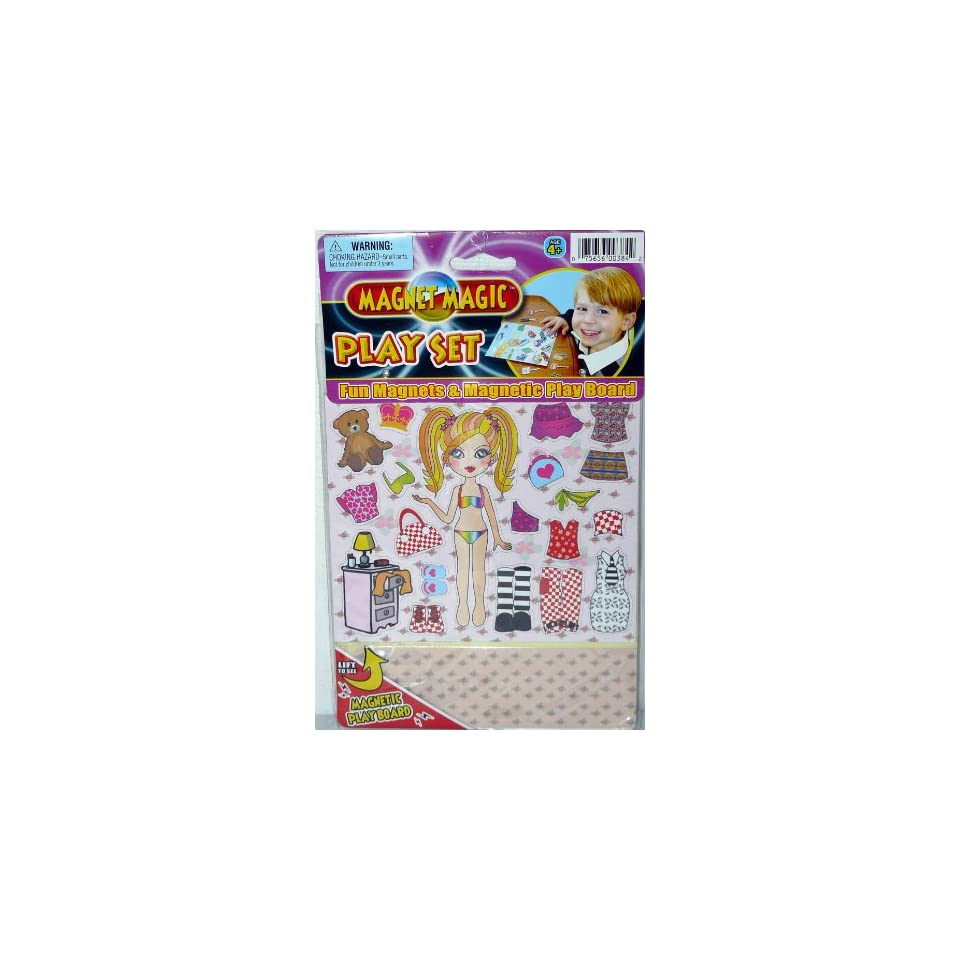 Magnet Magic Play Set Fun Magnets and Magnetic Play Board Sparkle Girl Set