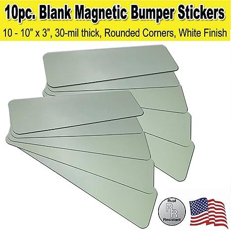 10 pack 10x3 blank bumper sticker car magnets