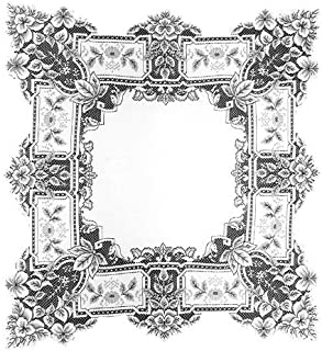product image for Heritage Lace Heirloom 36-Inch by 36-Inch Table Topper, White