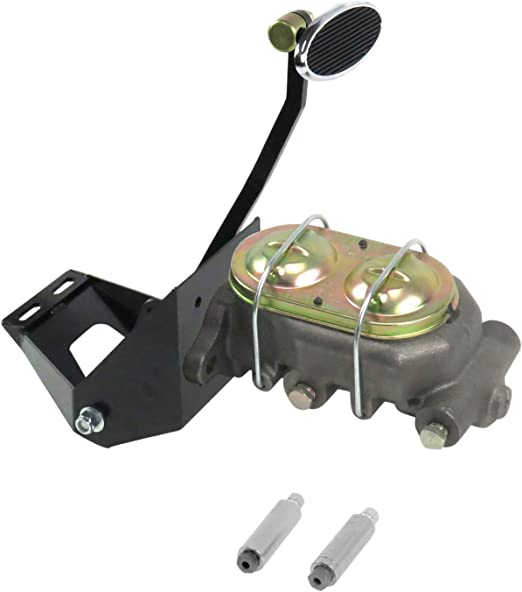 Helix 324688 55-59 Chevy Truck FW Manual Brake Pedal kit Adj Disk//Drum~Sm Oval Chr Pad