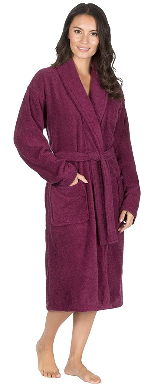 Ladies Pure 100% Cotton Luxury Towelling Bath Robe/Dressing Gown Set Pack with Kacey Paris® Socks