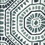 Close to Custom Linens Round Tablecloth Bricktown Waterbury Geometric Spa Green Slub Linen 90''