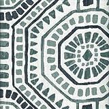 Close to Custom Linens Sham Bricktown Waterbury Geometric Spa Green Slub Linen Tailored Standard