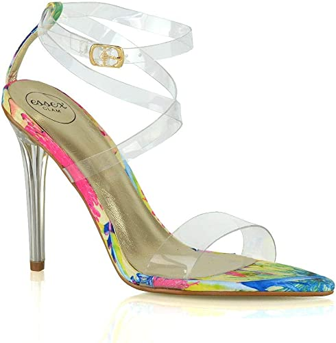 Womens Strappy Platform Peep Toe Stiletto Sandal Ladies High Heel Shoes Size 3-8