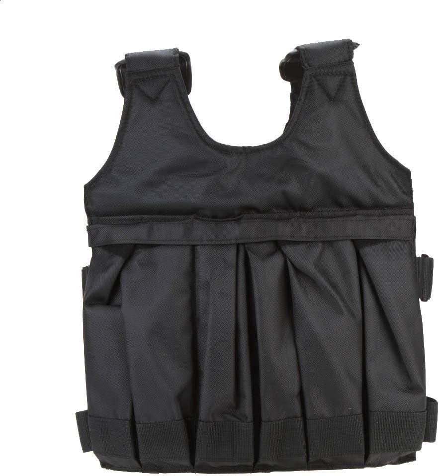 Yangyme Zone de Correction Charge Max. 50 kg Veste pondérée Ajustable Veste de Poids Exercice de Boxe Gilet de Formation Invisible Poids Chargement du Sable Vêtements (Vide)