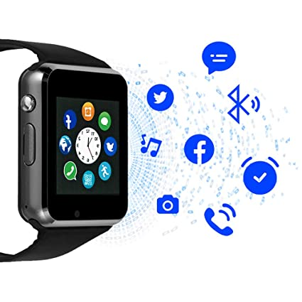 Smart Watch,Bluetooth Smartwatch with SIM Card Slot Camera Music Play Watch Phone Compatible Android Phones for Women Men Kids