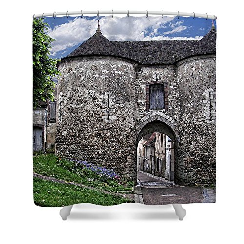 Porte Saint Jean - Pixels Shower Curtain (74