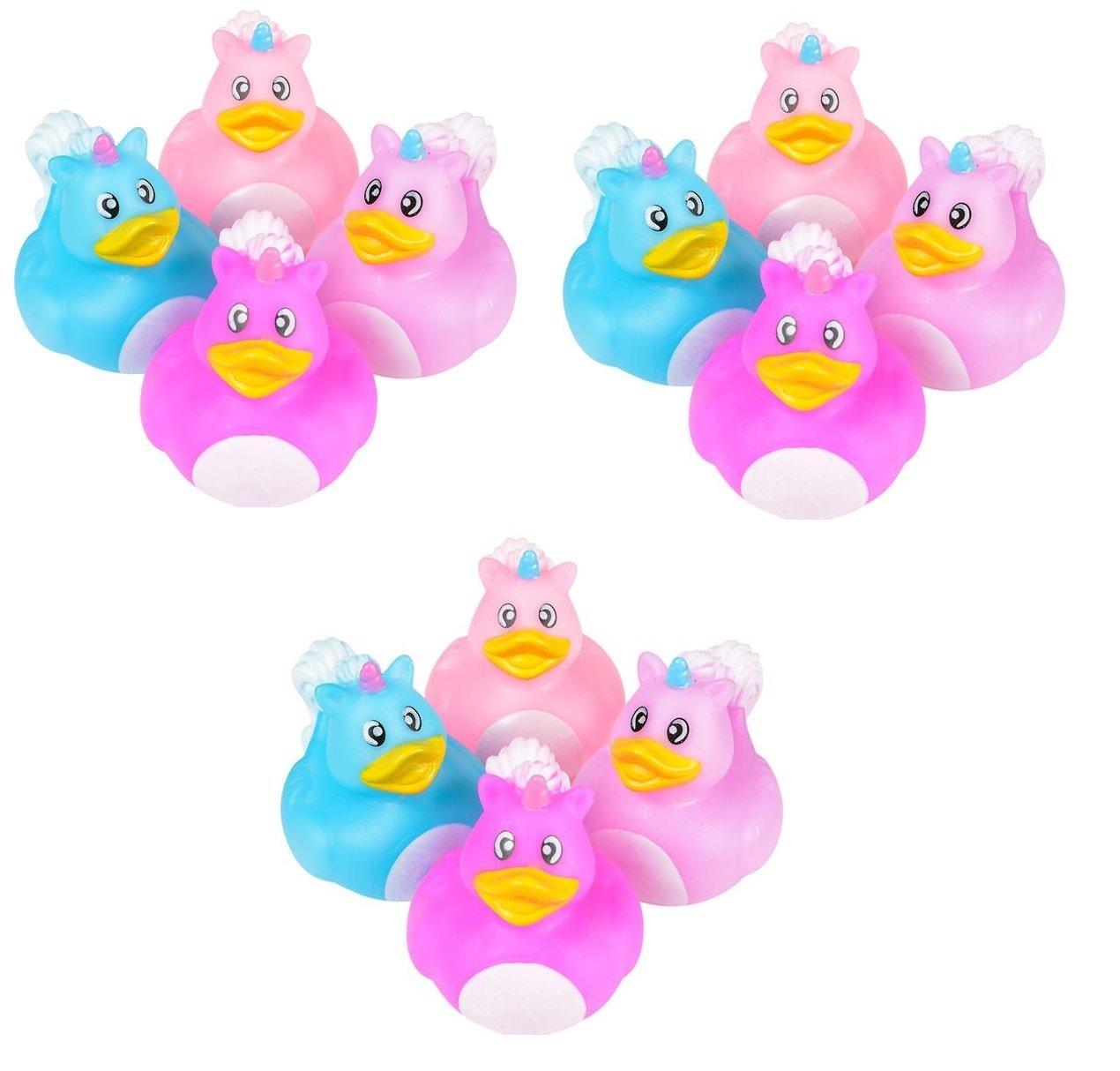 Amazon.com: 1 Dozen Unicorn Style Rubber Ducks Bath Toys: Everything ...