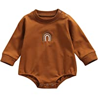 Infant Baby Girl Crewneck Sweatshirt Rainbow Pullover Sweater Top Long Sleeve Romper Cute Fall Winter Clothes