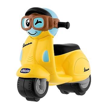 Chicco - Mini moto, Vespa Turbo Touch, con carga por retroceso, color amarillo: Amazon.es: Bebé