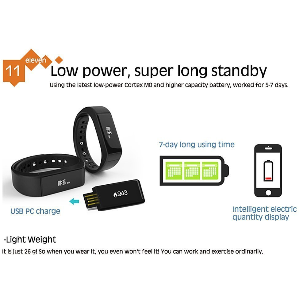Amazon.com: Fitness Activity Tracker, I5 Plus Bluetooth 4.0 ...