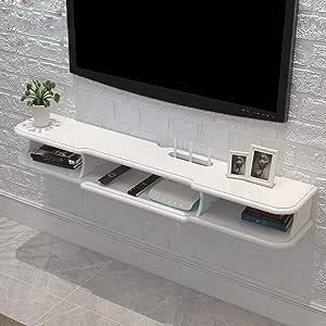 Televisor Montado en la Pared Router WiFi Set Top Box TV, TV Rack, Blanco, 140 cm: Amazon.es: Deportes y aire libre