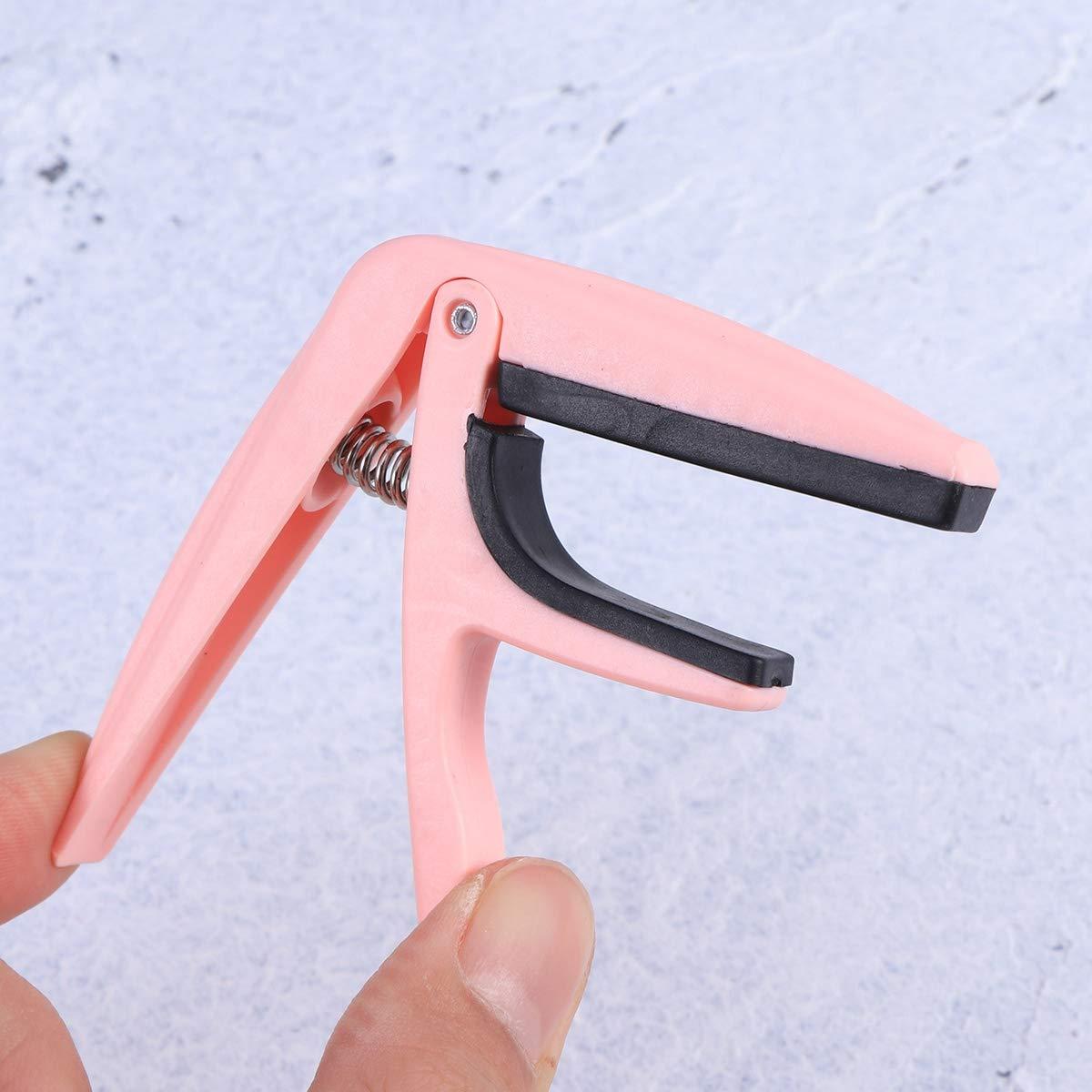 LIOOBO Professional Ukulele Capo Single-Handed Quick Change Ukelele Capo zinc Alloy Guitar Parts Accessories Pink